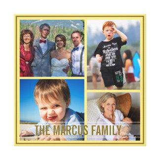 Colagem feita sob encomenda da foto de família da  impressão de canvas esticada