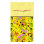 Colagem floral do art deco retro colorido modelo cartões de visitas