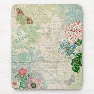 Colagem floral Mousepad do vintage