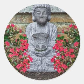Colagem pequena da escultura de Buddha Adesivo