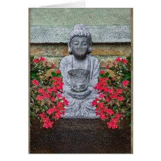 Colagem pequena da escultura de Buddha Cartão Comemorativo