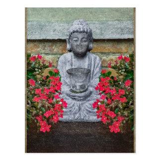 Colagem pequena da escultura de Buddha Cartão Postal