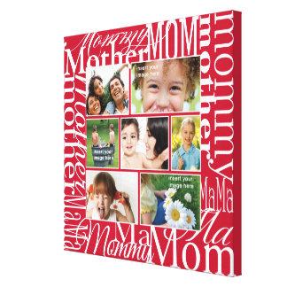 Colagem personalizada da foto para a mamã impressão de canvas esticada