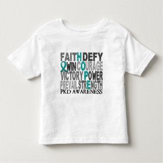Colagem PKD da palavra da esperança Camisetas
