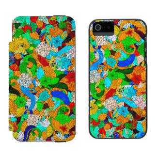 Colagem retro abstrata colorida das flores