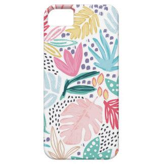Colagem tropical colorida capa de telefone