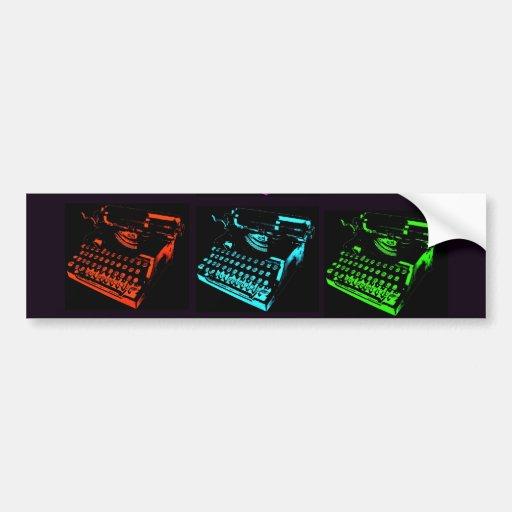 Colagem velha da máquina de escrever adesivos
