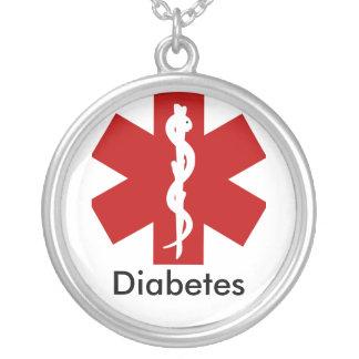 Colar alerta médica da identificação - diabetes