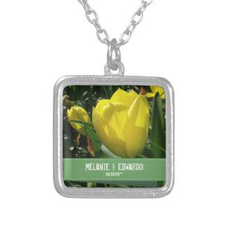 Colar amarela do casamento da tulipa para a noiva