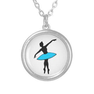 Colar azul da dança do balé da bailarina do tutu