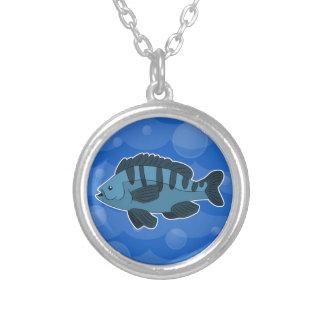 Colar azul dos peixes dos desenhos animados