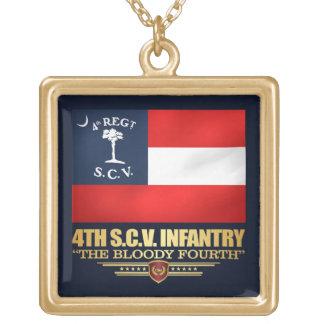 Colar Banhado A Ouro 4o Infantaria de South Carolina