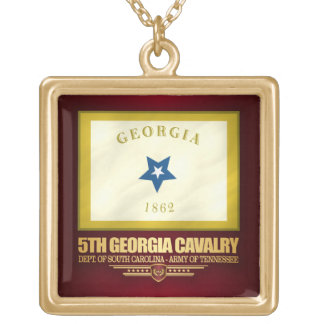 Colar Banhado A Ouro 5o Cavalaria de Geórgia