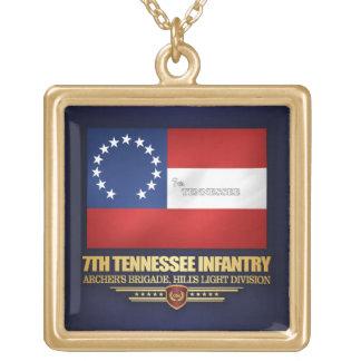 Colar Banhado A Ouro 7o Infantaria de Tennessee