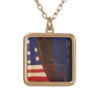 Colar Banhado A Ouro 9-11 Commerative