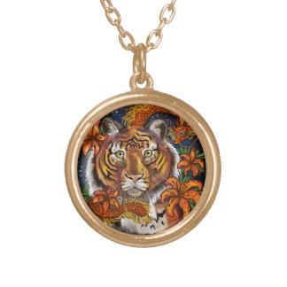 Colar Banhado A Ouro Ano chinês do tigre