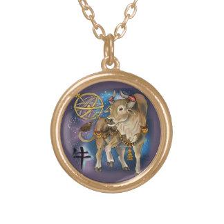 Colar Banhado A Ouro Ano chinês do zodíaco do boi