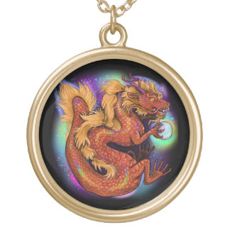 Colar Banhado A Ouro Ano chinês do zodíaco do dragão