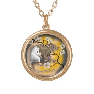 Colar Banhado A Ouro Ano chinês do zodíaco do rato