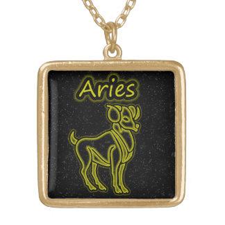 Colar Banhado A Ouro Aries brilhante