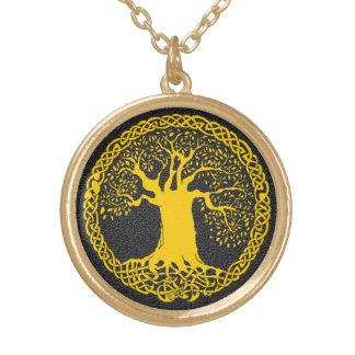 Colar Banhado A Ouro Árvore do tatuagem da vida