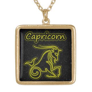 Colar Banhado A Ouro Capricórnio brilhante