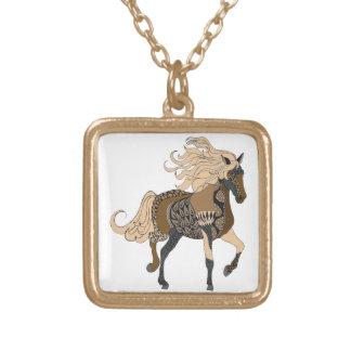 Colar Banhado A Ouro Cavalo