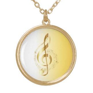 Colar Banhado A Ouro Chave do violino