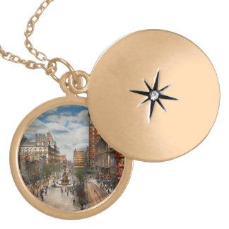 Colar Banhado A Ouro Cidade Cincinnati OH - fonte 1907 de Tyler