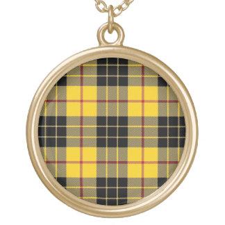 Colar Banhado A Ouro Clã escocês MacLeod do dom do Tartan de Lewis