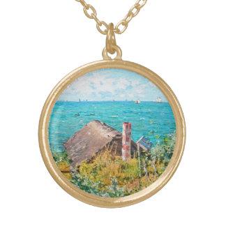 Colar Banhado A Ouro Claude Monet a cabine em belas artes do