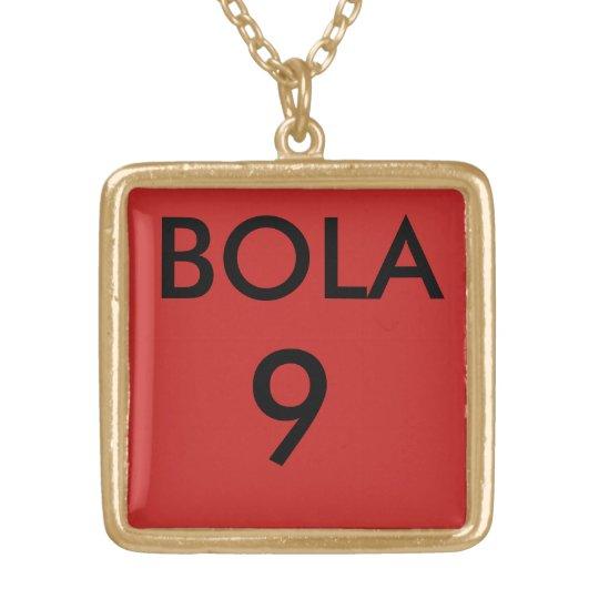 COLAR BANHADO A OURO CORDÃO BOLA 9