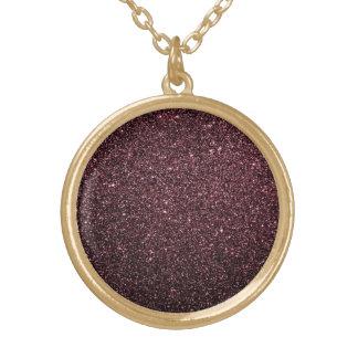 Colar Banhado A Ouro Design do brilho do falso da ameixa
