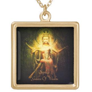 Colar Banhado A Ouro Deusa de Sophia da sabedoria