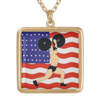 Colar Banhado A Ouro É você um weightlifter?