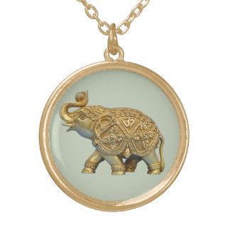 Colar Banhado A Ouro Elefante indiano