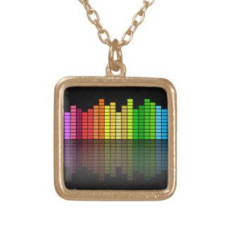 Colar Banhado A Ouro Equalizador colorido w/Reflection da música,