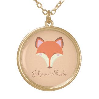 Colar Banhado A Ouro Fox de Kawaii