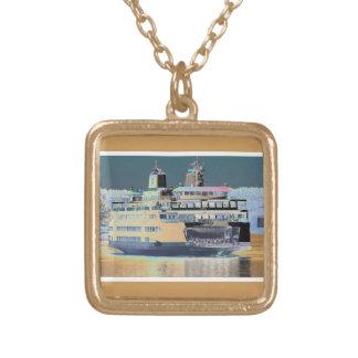Colar Banhado A Ouro Ilha de San Juan da balsa do porto de sexta-feira