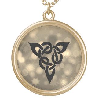 Colar Banhado A Ouro Knott celta mágico