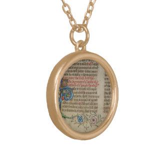 Colar Banhado A Ouro Página 10 do manuscrito iluminado