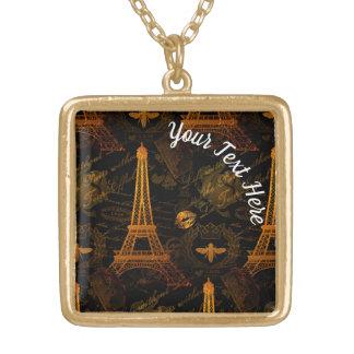 Colar Banhado A Ouro Paris: Excursão Eiffel do La