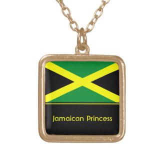 Colar Banhado A Ouro Pendente jamaicano personalizado da bandeira,