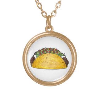 Colar Banhado A Ouro Presente mexicano de Cinco de Mayo do Tacos do