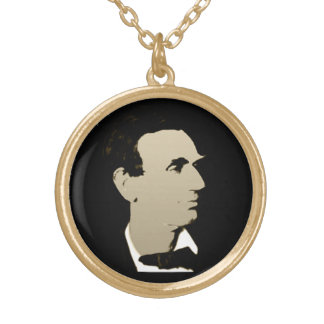 Colar Banhado A Ouro Presidente Lincoln