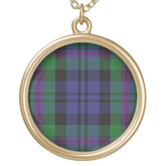 Colar Banhado A Ouro Tartan escocês de Baird do clã do dom
