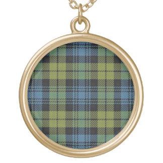 Colar Banhado A Ouro Tartan escocês de Campbell do dom