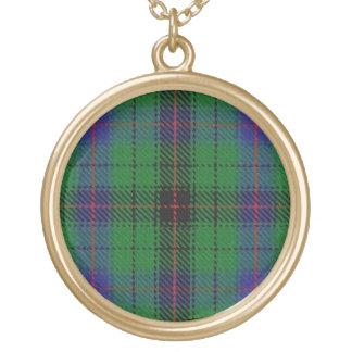 Colar Banhado A Ouro Tartan escocês de Davidson do clã do dom