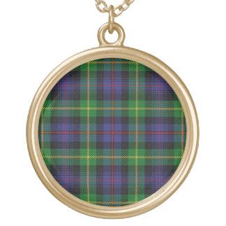 Colar Banhado A Ouro Tartan escocês de Farquharson do clã do dom
