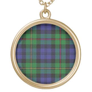 Colar Banhado A Ouro Tartan escocês de MacEwen do clã do dom